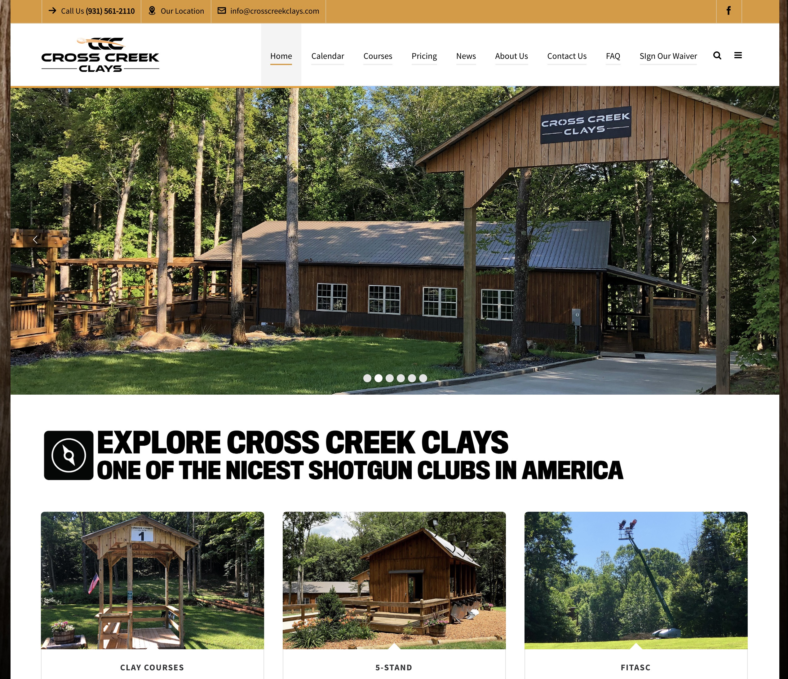 New Cross Creek Website