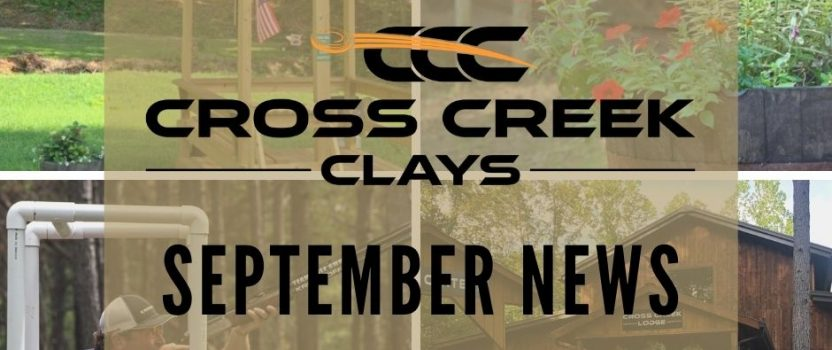 September News from Cross Creek Clays