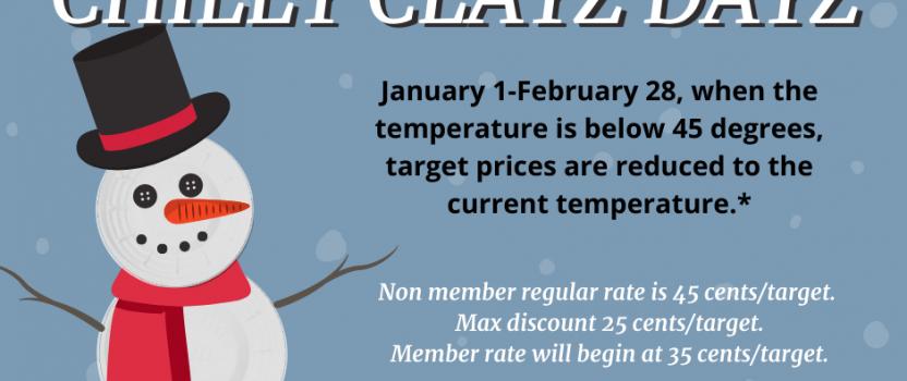 Chilly Clayz Dayz – January 1-February 28
