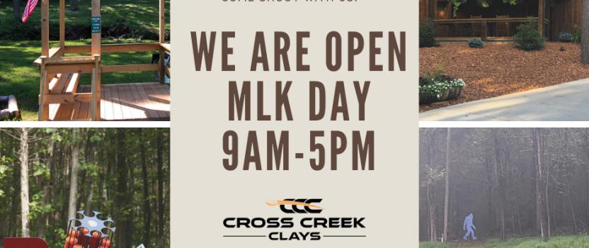 Open MLK Day!