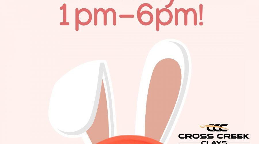 Open Easter Sunday 1-6
